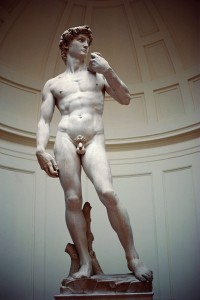 Italy, Florence, Accademia, Statue of David, Michelangelo