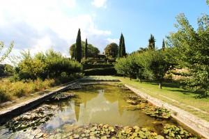 France-Provence-Domaine de la Baume garden view