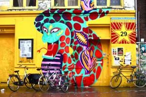 Netherlands, Amsterdam, Street graffiti