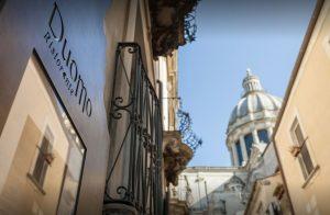 Italy, Sicily, Ragusa, Duomo Ristorante