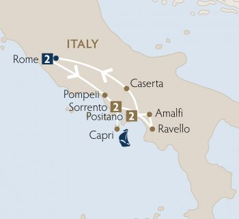 Where Is Pompeii On A Map Of Italy.Highlights Of Italy South Ormina Tours