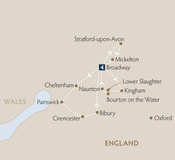 <p>FromSouth Warwickshire and Worcestershire, through West Oxfordshire and Gloucestershire; over 5 days discover The Cotswolds &#8211;home to some of the most unspoilt, historic and famous towns and villages in England.</p>