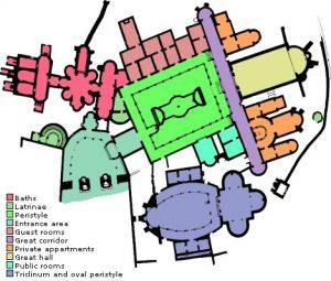Villa Romana del Casale site map