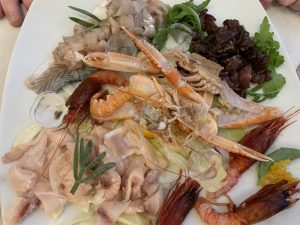 Amazing local seafood in Puglia
