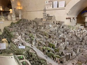 Miniature model of Matera