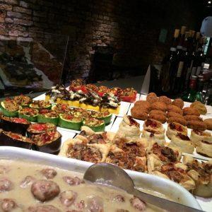 Tapas food at Rosa Rossa