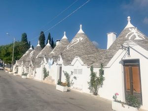 Lines of trulli in Alberobello