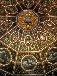 Ornately painted ceilings in the Palácio Nacional de Sintra