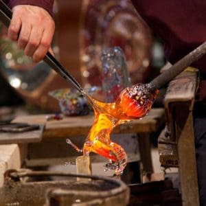 Glassmaking on the island of Murano, Venice