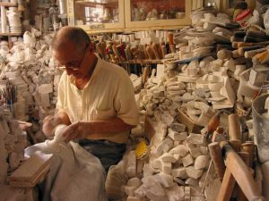 An alabaster sculptor