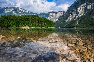Lake Bohinj closely rivals the beauty of Lake Bled