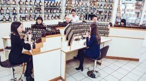 A perfume making workshop at Galimard, Provence