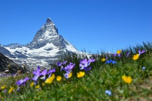 The iconic Matterhorn of the Swiss Alps