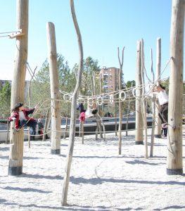 Madrid Río waterfront park Juegos