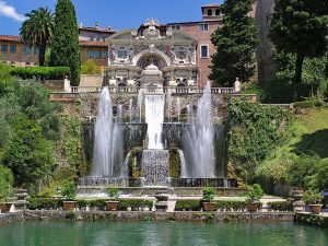 Villa d'Este's magnificent fountain garden.