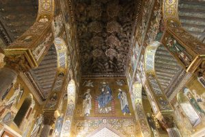 Palantine Chapel ceiling carved and painted by 12th century craftsmen from Maghreb